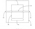 FIG. 7 is a top view of the waveguide and Silicon photodetector.