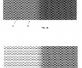 FIG. 1A is a Fresnel simulation of optical intensity within a cross-section of a photosensitive material formed in accordance with the invention; FIG. 1B is a computer simulation of the photosensitive material structure after the exposure of FIG. 1A and development.