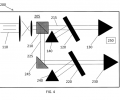 FIG. 4 is a schematic illustration of the optical setup for a dual-etalon geometry for the gas detector.