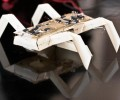 """An insect-like robot designed and printed using """"printable robots"""" fabrication techniques."""