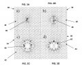 FIGS. 3A-3D are schematic diagrams illustrating holey fibers having respective modes propagating in their cores;