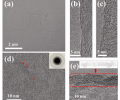 Figure 2. TEM images of the h-BN films.