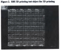 3D printed example of a dielectric material with low loss values