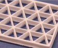 Triangle lattice printing demonstration to give a 57% by weight alumina structure