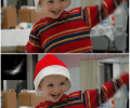 Visual demonstration of the algorithm's ability handle complex motion. The top image contains blur from both camera shake and subject motion. The resultant bottom image has the camera shake blur removed but subject motion blur is preserved.