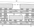 Multilevel integrated electronic package assembly schematic using miniaturized 3DIC