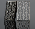3D printed lattice structures made of highly conductive ink