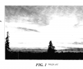FIG. 1 is an image of a sunset scene having underexposed and overexposed portions