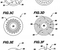 FIGS. 3A-3G are schematic cross-sectional views of example fiber geometries enabled by the processes of the invention;