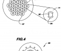 FIGS. 3A-3G are schematic cross-sectional views of example fiber geometries enabled by the processes of the invention; FIG. 4 is a schematic cross-sectional view of a fiber provided by the invention for optical and electrical transmission;