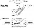 FIGS. 13A-13B are schematic cross-sectional views of a narrow-band fiber photodetector of the invention and an optical resonator included in the photodetector, respectively;