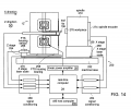 FIG. 14 illustrates a schematic representation of a fast tool servo based diamond turning machine;
