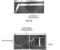 FIG. 2 shows scanning electron microscope (SEM) images of a device of this invention. Three microchannels were connected to each other by self-sealing Nafion membrane structure (FIG. 2 a); FIG. 2 b is the SEM image of a cross section (A-A′ in FIG. 2 a) of the membrane. Nafion resin was filled perpendicular to the plane of the cover glass and the Nafion membrane thickness was estimated to be ˜2-4 μm (FIG. 2 b insert);