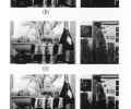 FIGS. 8 a-8 e are comparisons of deblurring photographic images using the present invention and using static camera deblurring of the art.