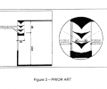 FIG. 3 is a diagram of anodolic louvers of the prior art;