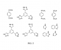 FIG. 2 depicts organic ligands used in electrochemically induced cathodic deposition of crystalline MOF compounds, according to an illustrative embodiment of the invention.