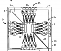 FIG. 1A schematically depicts a top view of a multistage thermoelectric micro cooler device in accordance with one embodiment of the invention,