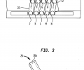 FIG. 2 schematically illustrates one of the multistage thermoelectric micro coolers of the device of FIGS. 1A and 1B, FIG. 3 is a schematic perspective view of a thermoelectric leg of the multistage thermoelectric micro cooler of FIG. 2,