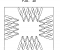 FIG. 10 schematically depicts a planar thermoelectric cooler formed by employing the fabrication methods delineated in FIGS. 9A-9F