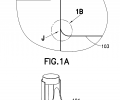 FIG. 1A is a schematic representation illustrating entry of a deployed tactile inspection manipulator;