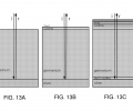 FIGS. 13A-13C include exemplary cross-sectional schematic illustrations of semiconductor-metal tandem structures;