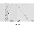 FIG. 15 depicts Au nanoparticles electrodeposited on carbon nanotubes,