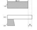 FIG. 1B schematically shows the effect of mean stress when the substrate is released;