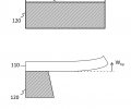 FIG. 1C schematically shows the effect gradient stress when the substrate is released;