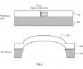 FIG. 2 schematically shows buckling of a microbridge under compressive mean stress;