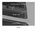 FIG. 4B is an image of an scanning electron microscopy showing a MEMS structure with the step-up architecture;