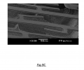 FIG. 9C shows the experimental SEM and profilometric height images of the buckled microbridge and tethers assembly