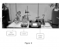 FIG. 8 shows a picture of a non-limiting example of a flow reactor, according to some embodiments