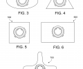 FIG. 3 is a cross-sectional view of a fiber with an elliptical cross-sectional shape. FIG. 4 is a cross-sectional view of a fiber with a triangular cross-sectional shape. FIG. 5 is a cross-sectional view of a fiber with a square cross-sectional shape. FIG. 6 is a cross-sectional view of a fiber with a rectangular cross-sectional shape. FIG. 7 is a cross-sectional view of a fiber with a symmetrical cross-sectional shape.