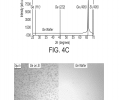 FIG. 4C is a graph showing XRD spectra for Ge and Ge-on-Si surfaces. FIG. 4D includes photographs of Ge-on-Si and Ge surfaces after EPD.